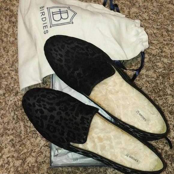 fce8f7a58fe9 Birdies Shoes - New! Sz 11 Birdies Starling Black Leopard Shoes